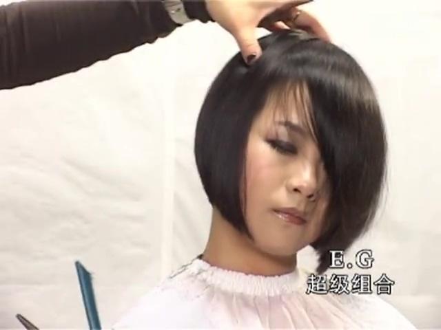 发型设计 理发视频学生短发