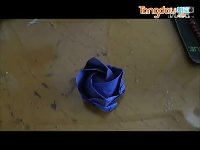 手工制作折纸大全 川崎手工制作玫瑰花 折纸大全视频.flv