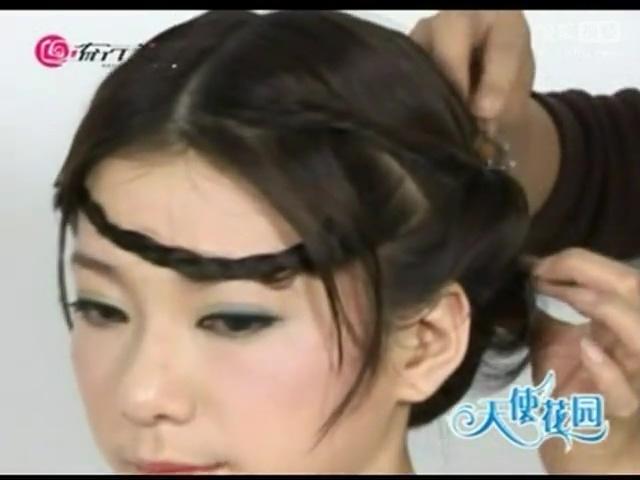 盘头发的方法图解 最新女生盘发