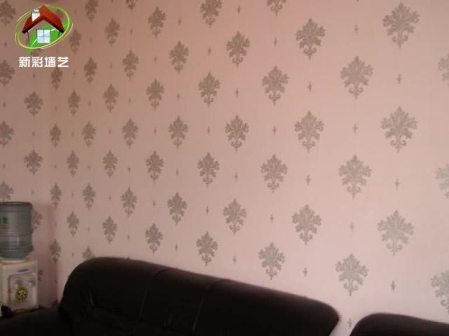 液体壁纸装修效果图_液体墙纸墙面装饰效果_新彩墙艺