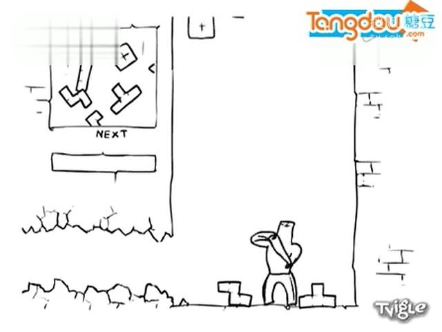 【搞笑】创意简笔画 恶搞经典电影和游戏.flv