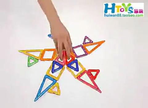 磁力片玩法图解_磁力片搭法图片