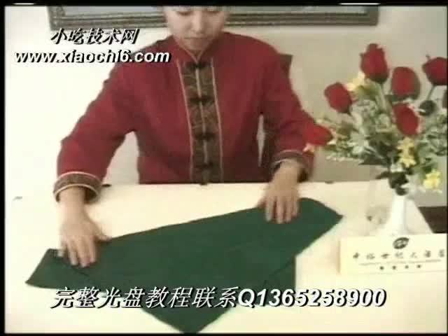 餐巾折花杯花,餐巾折花教程