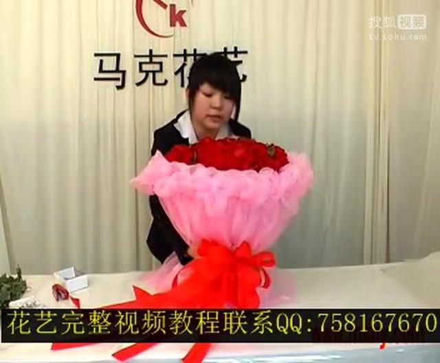视频:卡通公仔花束的包装方法_圆形花束包装教程 ...