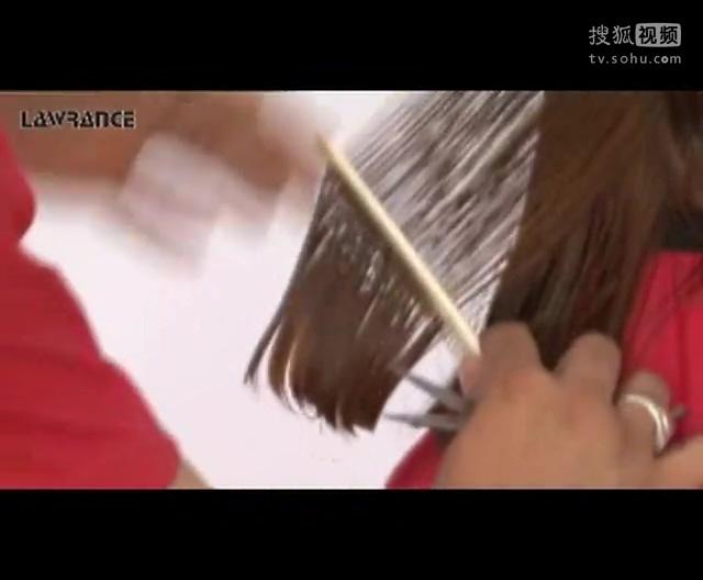 梨花头剪发技巧 劳伦斯美发烫发 剪发视频图片