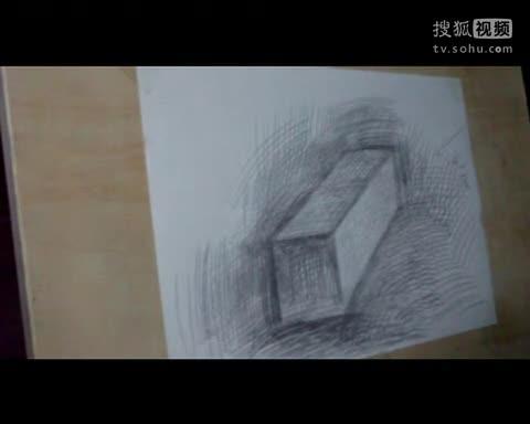 光影素描入门第2课,掌握长方体的光影画法