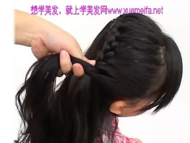 学生发型 扎法 自己学做好看的 儿童扎发 儿童扎头发图片大全 韩式