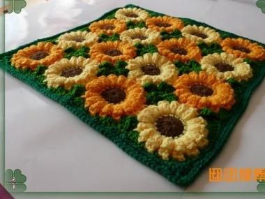 太阳花钩织图片