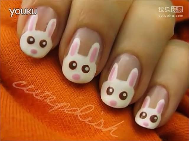 可爱的复活节兔子美甲教程