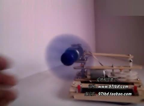 科技小制作小发明,手工自制摇头小电风扇