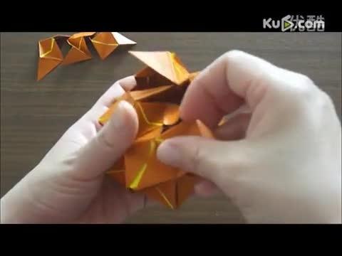 立体折纸 作品9 绣球花