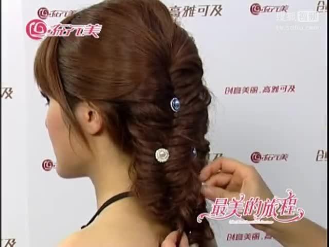中式新娘盘发图片