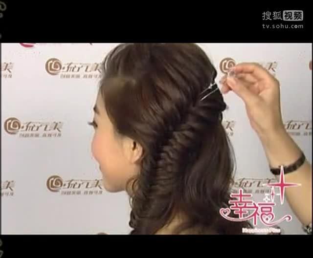 2014短发盘发视频 新娘盘发教程图片