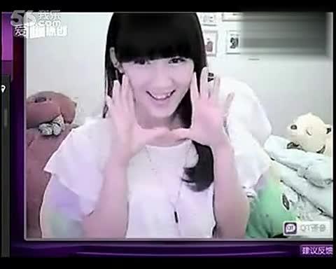 美女唱歌 超级 可爱清纯哦  可爱颂 手指舞 1717300:59 韩国 可爱颂