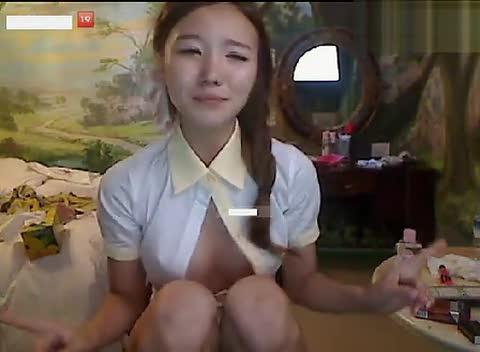 韩国女主播揉奶