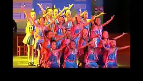 cctv少儿舞蹈大赛《给书包减肥》儿童舞蹈 群舞