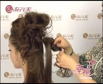 盘发方法步骤 韩式蝎子辩侧盘发 短发新娘