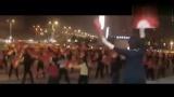 廣場扇子舞:開門紅 海安人民廣場舞蹈隊夜景實況